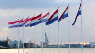 Rotterdam Industry with Dutch flags