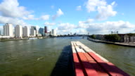 Rotterdam Skyline with container ship
