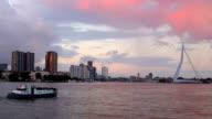 Rotterdam Skyline with ship