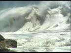 rough, crashing ocean waves
