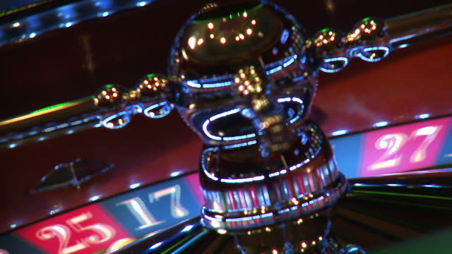 Roulette wheel numbers closeup