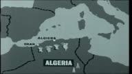 Algeria Faces the Future Ahmed Ben Bella down steps of plane as waves / Ben Bella along speaking to members of guard / Various of Ben Bella speaking...