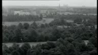 Crisis In Berlin GERMANY West Berlin EXT West Berlin skyline with parkland and Brandenburg Gate