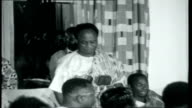 Ghana to Gambia INT State dinner with royals and others sitting as Nkrumah making speech talks about changes in Africa happening very quickly / great...
