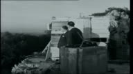 Gibraltar 1962 View over town from the Rock Television House Gibraltar housed in an old fortification Transmission equipment inside Television House...