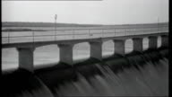 Portrait of Brazil EXT Various of waterfalls Paulo Afonso Hydroelectric Dam with water from the Sao Francisco River flowing over the edge under...