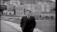 Prince Rainier's Gamble MONACO Monte Carlo EXT Reporter to camera French customs men checking cars and drivers on Charles de Gaulle French imposed...