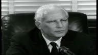 The America Khruschev Will See Name plaque on door 'Mr Dodd Connectict' and sign saying 'Come In' Senator Dodd interview SOT Disapproval of the...