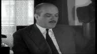 Yugoslavia Mr Vejvoda interview SOT Denying alleged plot between Greece America and Yugoslavia over Albania / no pretentions to be able to pass...