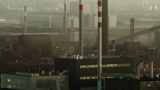 LS PAN row of blast furnaces in steel plant