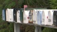 MSCU  Row of mailboxes  / Florida Keys, Florida, USA