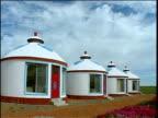 Row of yurts Inner Mongolia