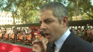 Rowan Atkinson on gadgets he likes in the movie and what he'd invent at the Johnny English Reborn UK Premiere at London England