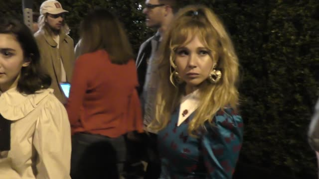 Rowan Blanchard Juno Temple leave Gucci event in West Hollywood in Celebrity Sightings in Los Angeles