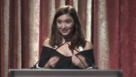 SPEECH Rowan Blanchard presents to Marne Levine at Women Making History Awards Honoring Kerry Washington Instagram COO Marne Levine SpaceX President...