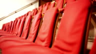 Rows of red seats in Auditorium