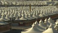 Rows of tents comprise Mina in Mecca.