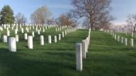 MS, PAN, Rows of tombstones, Arlington National Cemetery, Arlington, Virginia, USA