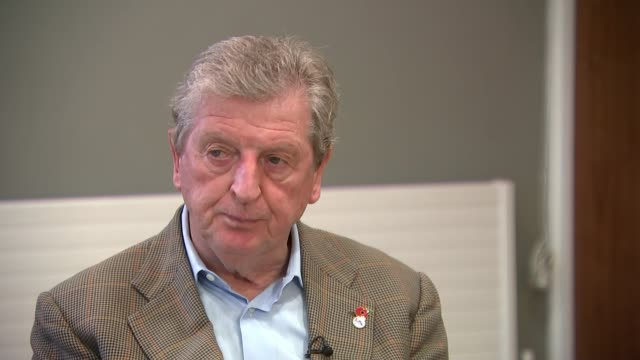 London INT Roy Hodgson interview SOT re time as England manager CUTAWAYS reporter