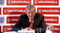 Roy Hodgson press conference to announce England World Cup squad Hodgson press conference SOT On Euro 2016 / focus is on world cup / whether squad is...
