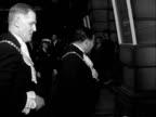 London Burlington House David Bruce arrives and into house Sir Bernard WaleyCohen from car and into House Sir Winston Churchill from car Churchill...