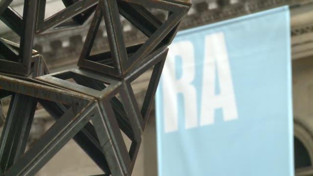 Royal Academy Summer Exhibition 2015 GVs ENGLAND London Roayl Academy EXT Art installation in courtyard outside Royal Academy / sign 'Summer...