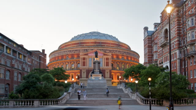 T/L Royal Albert Hall, day to night, London, England