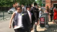 Royal Ascot 2017 Opening day / increased security Berkshire Ascot Racecourse Armed police officers patrolling Nick Smith and reporter along Nick...