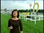 Royal Ascot ENGLAND Berkshire Ascot EXT Reporter to camera