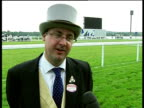 Royal Ascot Reporter to camera and along to interview Nick Smith SOT