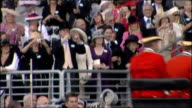 Royal Ascot Royal arrivals ENGLAND Berkshire Ascot Racecourse EXT Members of the Royal Household and spectators gathered for Royal Ascot race meeting...