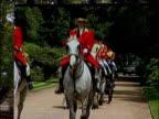 Royal Ascot Royal party / racegoers Royal procession seen on big screen