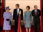 Royal footman Ryan Parry interview LIB Queen Elizabeth II US President George WBush Laura Bush and Prince Philip Duke of Edinburgh standing together...