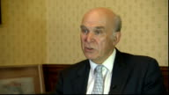 Vince Cable interview ENGLAND London INT Vince Cable MP interview SOT On price of Royal Mail shares / volatile market / government was right to...