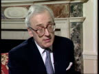 London INT Lord Chadlington intvwd Whole Board has offered to resign / Board has taken responsibility / Praises Chief Executive Mary Allen / Talks of...