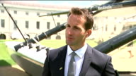 Royal reception to support British team for America's Cup Sir Ben Ainslie interview ENGLAND London Greenwich EXT Sir Ben Ainslie interview SOT
