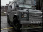 Royal Ulster Constabulary armoured cars go out on patrol Londonderry 1994
