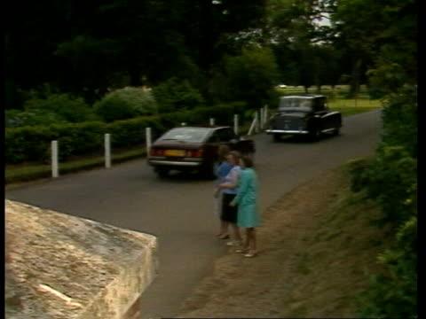 Honeymoon promo ENGLAND Broadlands MS Couple into car and away SPACING GIBRALTAR GV Gibraltar rock LS Royal Yacht Britannia ITN Rushes 29781