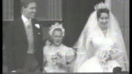 London continues to prepare for the big day/Royal wedding dress exhibition S21010801 Buckingham Palace EXT Princess Margaret and her new husband Lord...