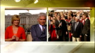 Royal wedding of Prince William and Kate Middleton ITV News Special PAB 1430 1530 ENGLAND London Etchingham and Schofield / Smith in St Andrews...