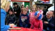 Royal wedding of Prince William and Kate Middleton ITV News Special PAB 1430 1530 Cumbria Brampton EXT Emma Murphy LIVE as people at street party...