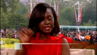 Royal wedding of Prince William and Kate Middleton ITV News Special PAB 1330 1430 STUDIO Amanda Wakely and Bunmi Olaye STUDIO interview SOT