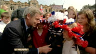 Royal wedding of Prince William and Kate Middleton ITV News Special PAB 1430 1530 SCOTLAND St Andrews EXT Matt Smith LIVE Vox pops SHOT people at...