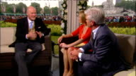 Royal wedding of Prince William and Kate Middleton ITV News Special PAB 1430 1530 STUDIO Etchingham and Schofield Harverson interview SOT