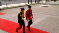 Royal wedding of Prince William and Kate Middleton ITV News Special PAB 1430 1530 EXT Prince William and Prince Harry arriving at abbey earlier in...
