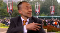 Royal wedding of Prince William and Kate Middleton ITV News Special PAB 1430 1530 INT Etchingham and Schofield STUDIO Michel Roux interview SOT