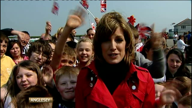 Royal wedding of Prince William and Kate Middleton ITV News Special PAB 1330 1430 Reporter Andrea Benfield 2 WAY report from Anglesey Vox pop with...