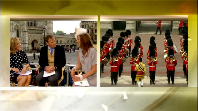 Royal wedding of Prince William and Kate Middleton ITV News Special PAB 1230 1330 STUDIO Anne Nightingal interviews Tom Bradby and his wife Claudia...