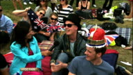 Royal wedding of Prince William and Kate Middleton ITV News Special PAB 1430 1530 STUDIO Duncan interview SOT Crowd in park Nina Hossein LIVE Vox...