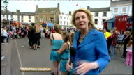 Royal wedding of Prince William and Kate Middleton ITV News Special PAB 1330 1430 Reporter Emma Murphy 2 WAY from street party in Brampton Cumbria...